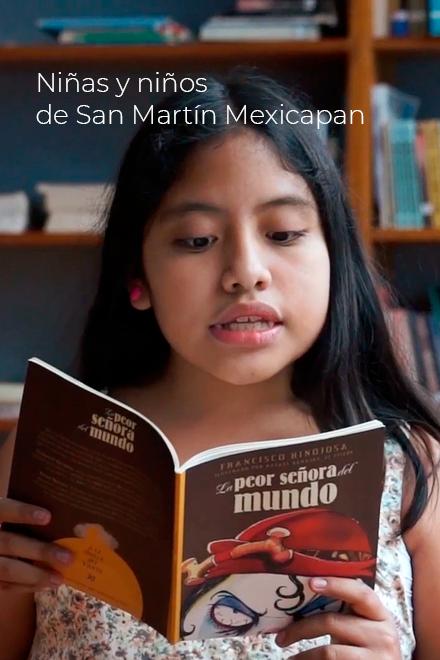 Niñas y niños de San Martín Mexicapan